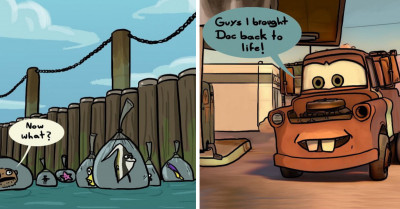 Comic Artist Envisions A World Where Pixar Movies Are Lifelike