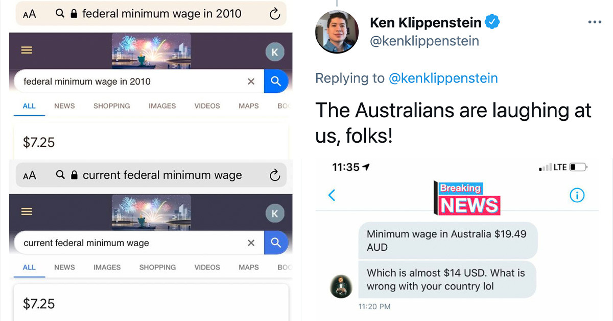 Person Shares Worrying Statistic About The Minimum Wage in 2010 and 2020, And People Contributed With More Statistics That Don't Paint A Pretty Picture