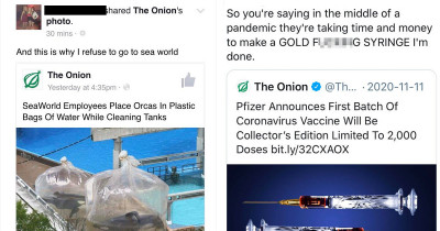 Gullible People Who Can't Tell The Difference Between Real And Fake Satirical Articles, Basically Embarrassing Themselves