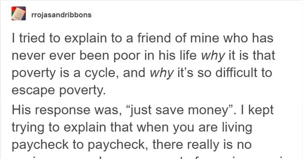 Poor Person Explained What Invisible Poverty Looks Like To His Rich Friend And It Will Change Your Perception Of Life