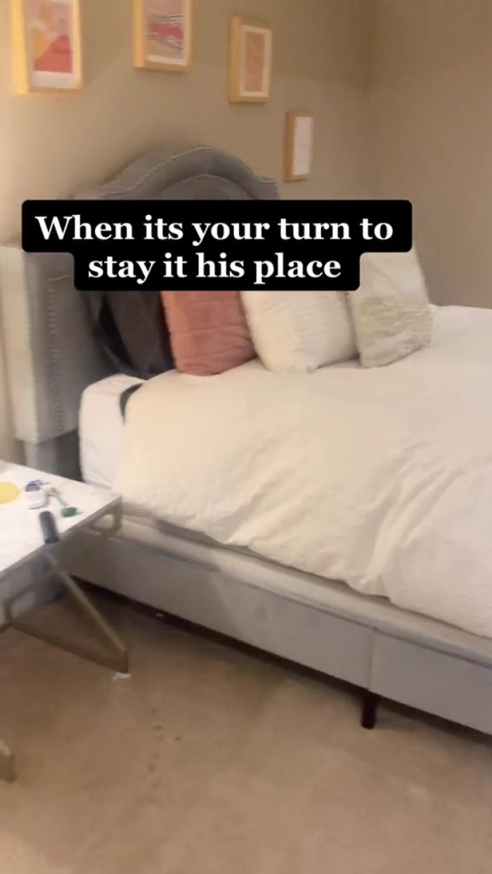 She began by showing a photo of her own room...