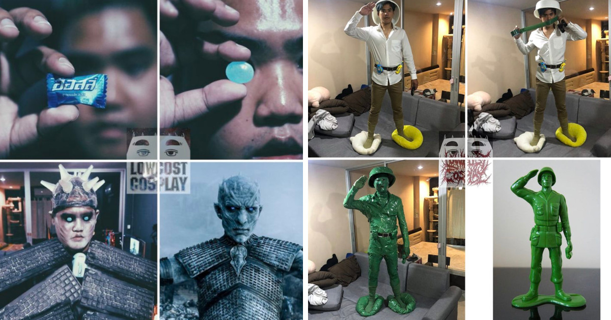 This Cosplay Guy Is All About Low Budget And It's Actually Pretty Amazing