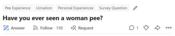 8. No, ladies don't urinate xx