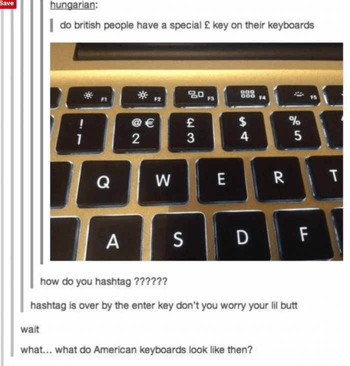 11. Different keyboard...