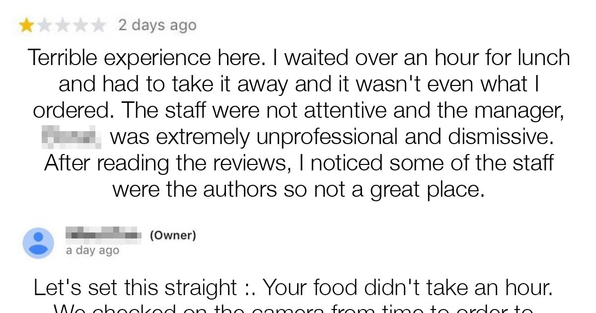 16 Times Restaurants Replied To Negative Reviews