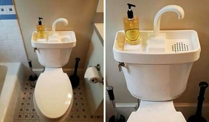 10. Some Japanese toilets have hand wash sinks on top of them so the water can be reused. This fantastic invention saves millions of gallons of freshwater every year