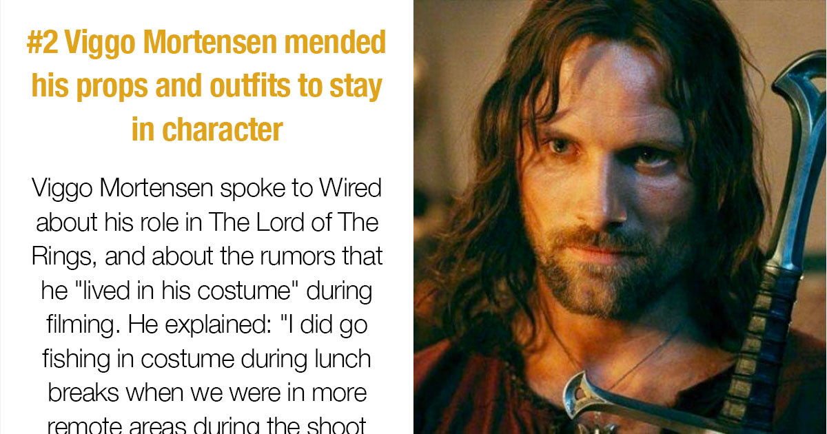 """Interesting Facts About The Outfits In The """"Lord Of The Rings"""" Trilogy"""