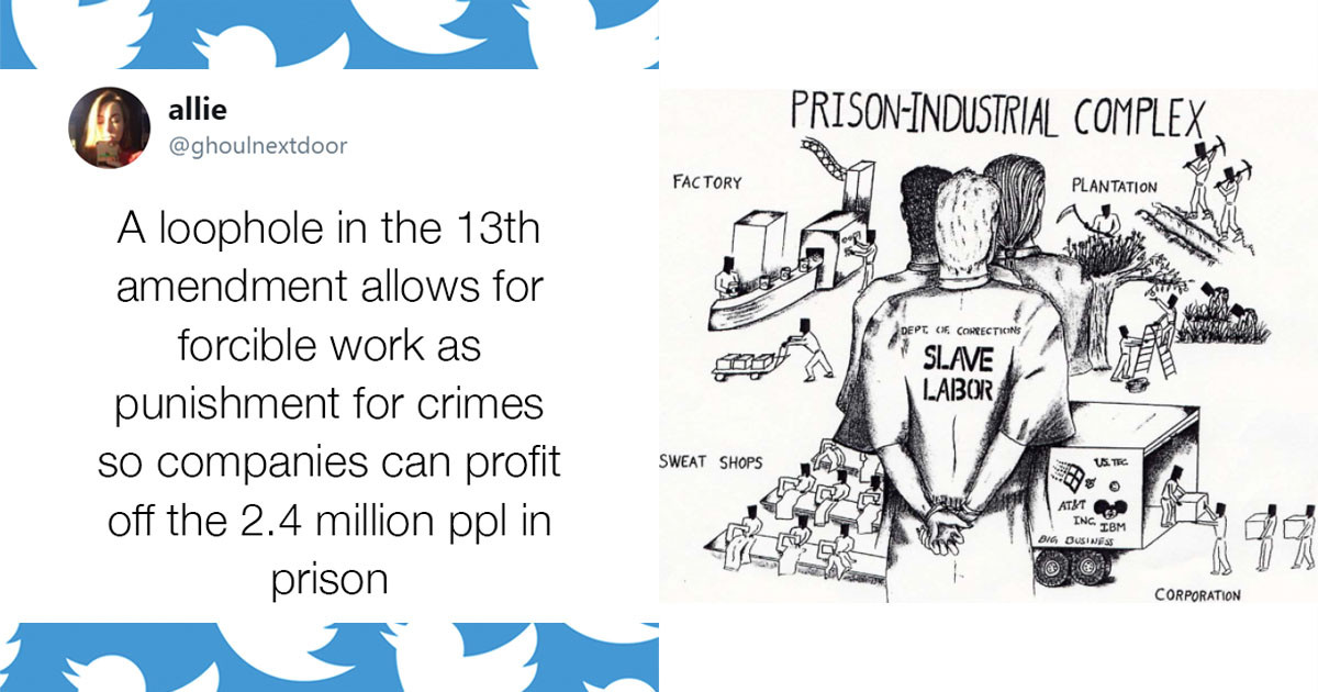 Student Exposes The Loophole In American Government That Allows Modern Day Slavery To Exist In The For-Profit Prison Industry