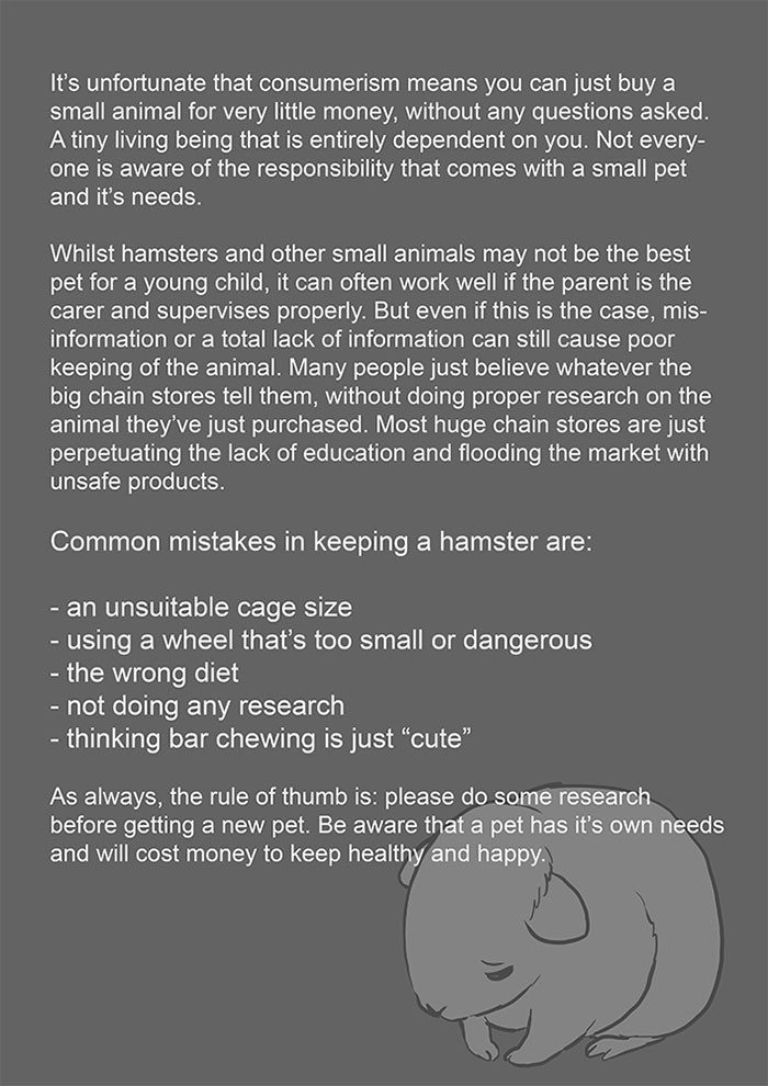 The artist shared a PSA about the importance of doing proper research before getting a pet