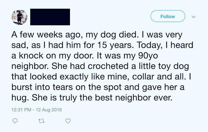 7. The best neighbor ever