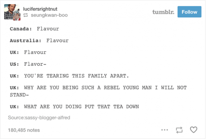 15. Put that tea down!