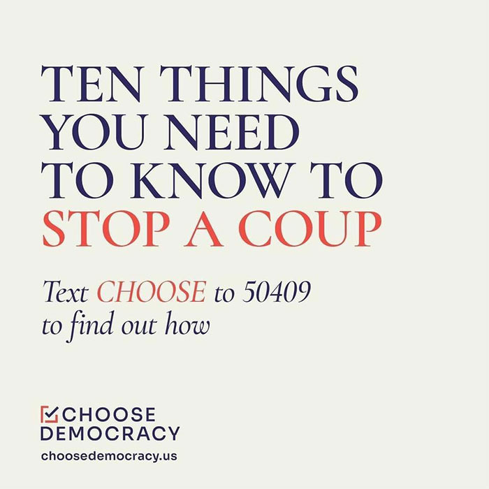 So here we go: ten things you need to know to stop a coup!