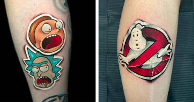 3D Sticker Style Tattoos That Are Utterly Incredible