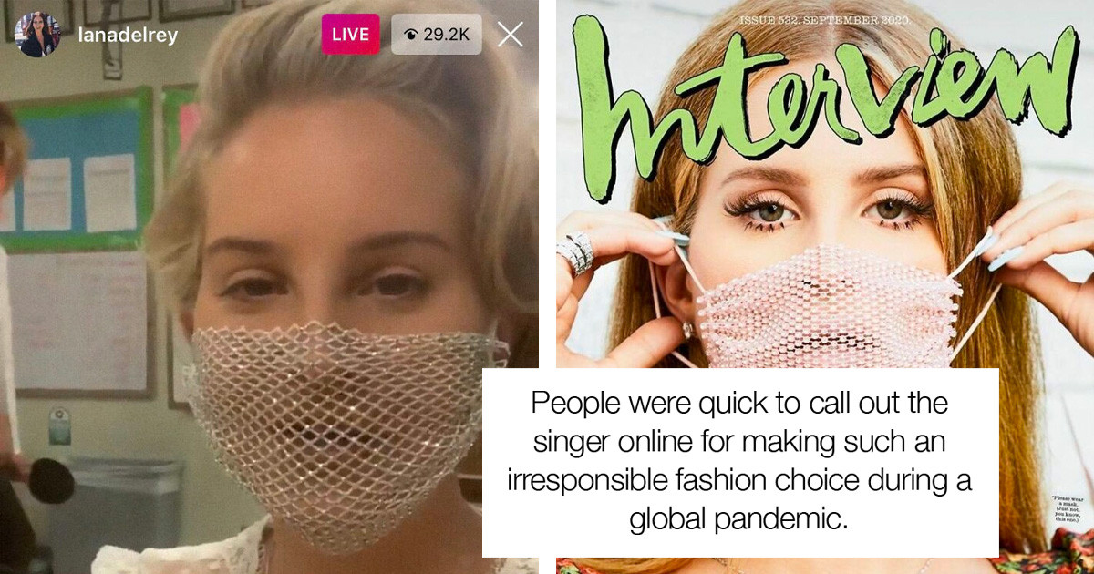 Lana Del Rey Has Finally Responded To Critics Of Her Infamous Mesh Face Mask