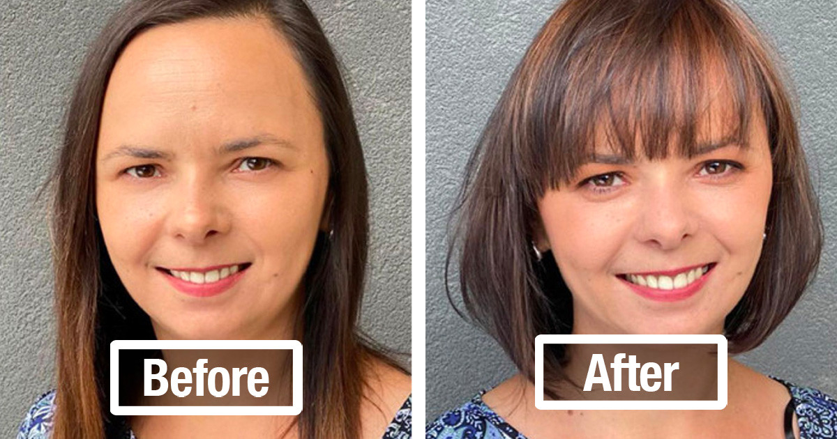Hairdresser Shows How Simple Hair Changes Can Totally Change Your Appearance With 30 Stunning Before & Afters