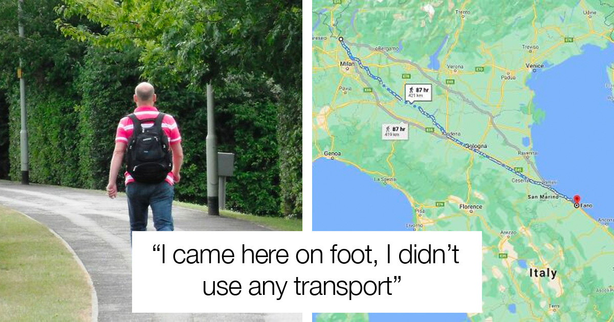 Italian Man Goes On A 450 Kilometer Long Walk To Cool Off After Fighting With His Wife