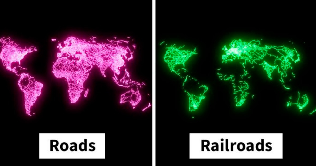 Artist Creates Five Incredible Maps To Show Just How Connected The World Really Is