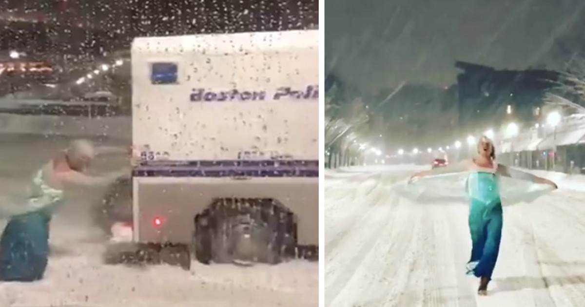 This Prankster Was Dressed as Elsa and Ended Up Saving a Police Officer From a Snowstorm