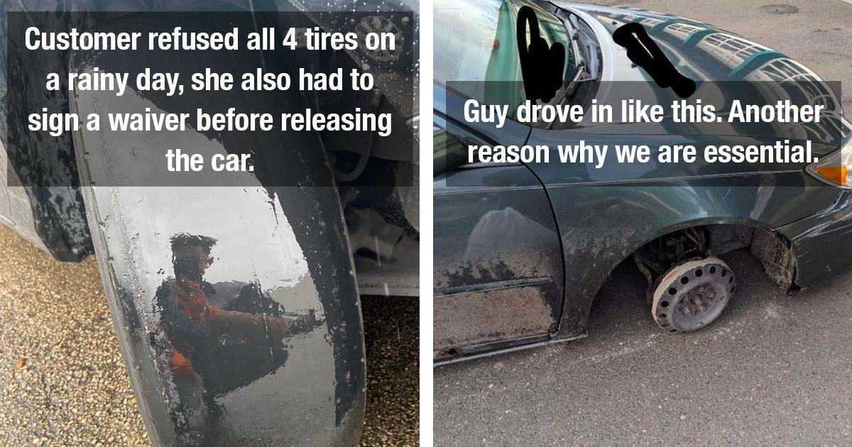 50 Mechanics Share Photos Of Their Craziest Repairs
