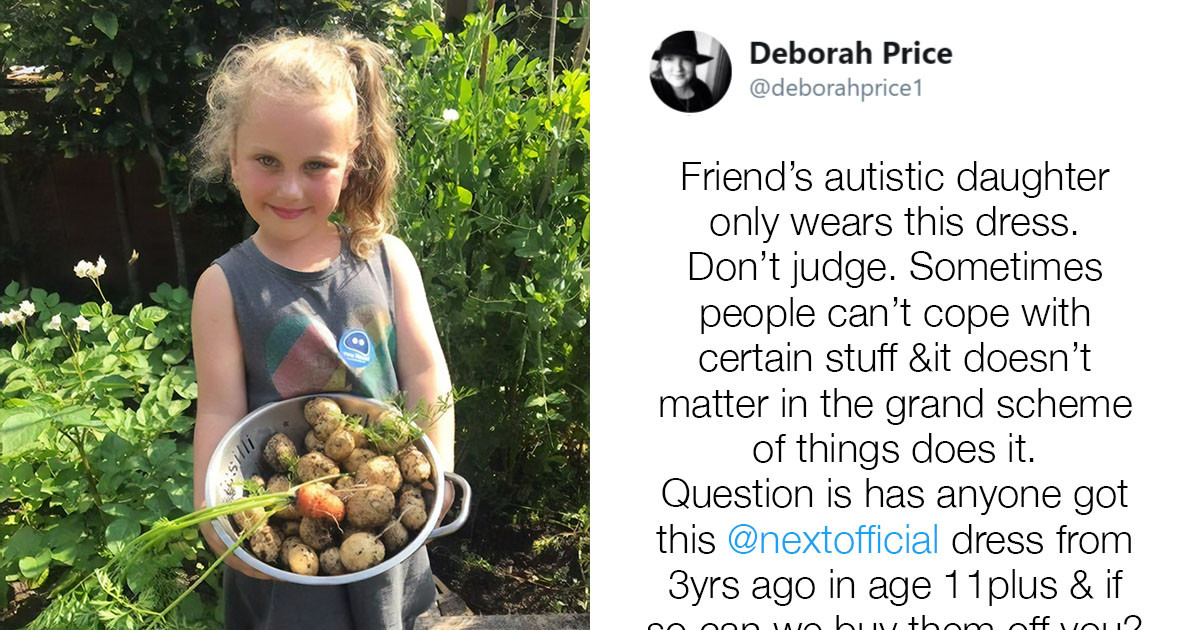 Autistic Girl Has Been Insisting On Wearing One Specific Dress For Years, Which Led Her Mom's Friend To Ask For Help On Twitter