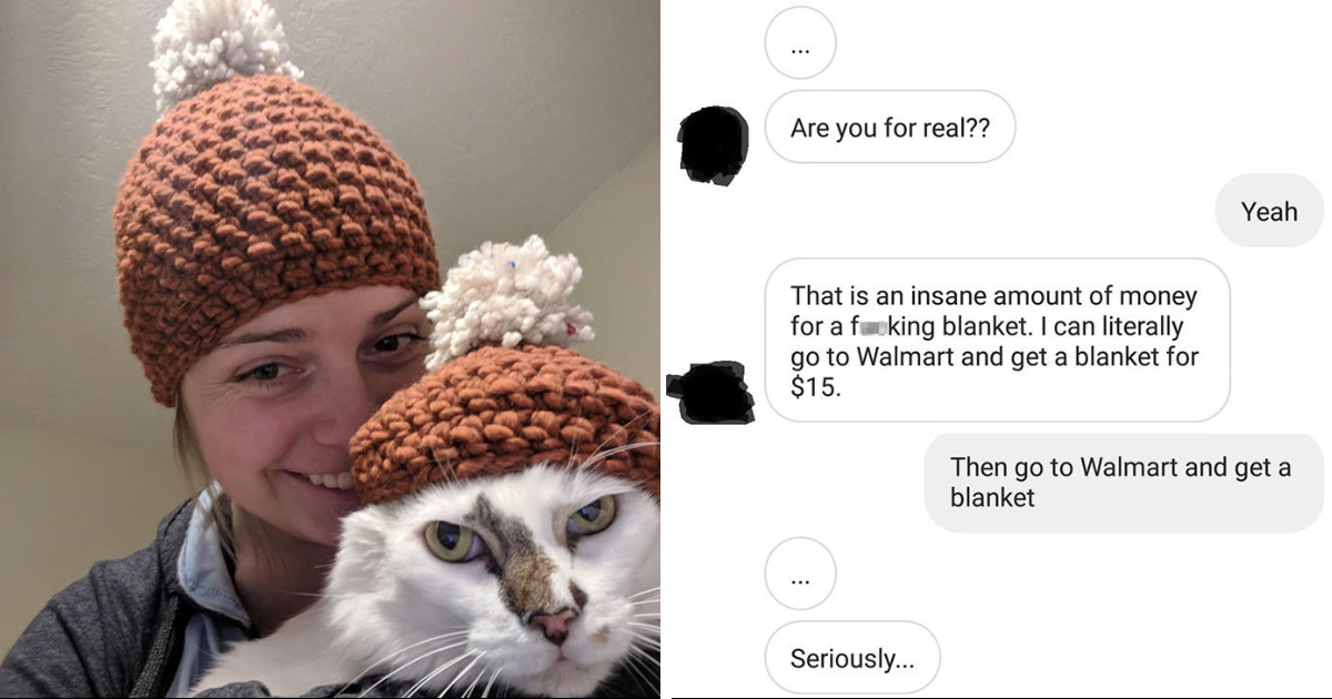 Jerk Client Harasses Crocheter Over Price Of A Blanket And Makes Himself Look Like A Fool