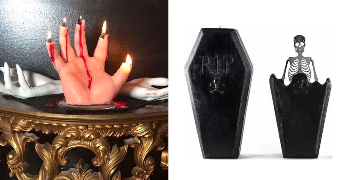 This Candle Has A Secret – As It Melts, It Reveals A Skeleton Inside