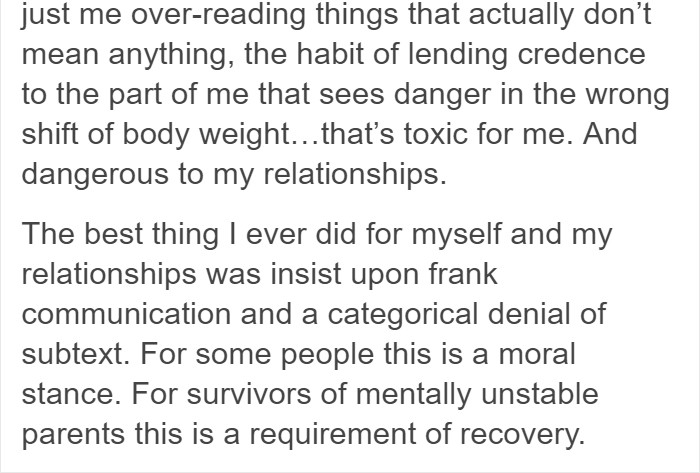 Dawson went on to explain that it is imperative for abuse victims to let go of this damaging habit.