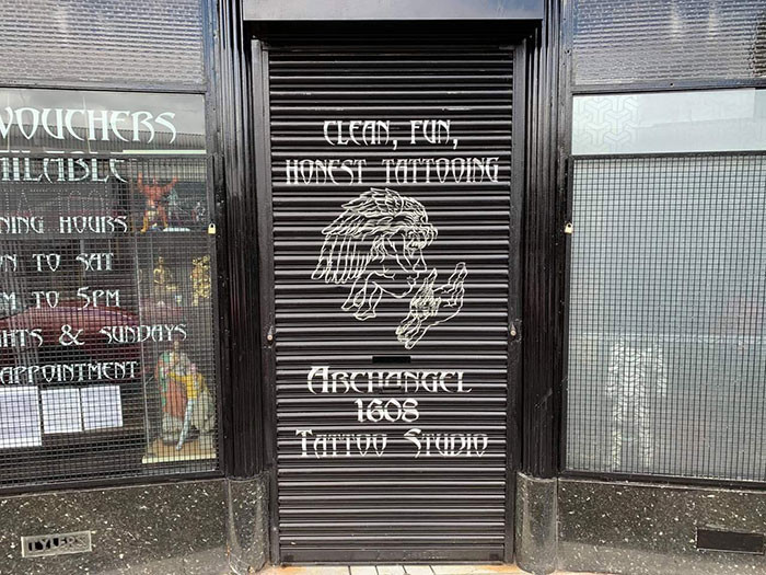 This is the Archangel tattoo shop is Glasgow.