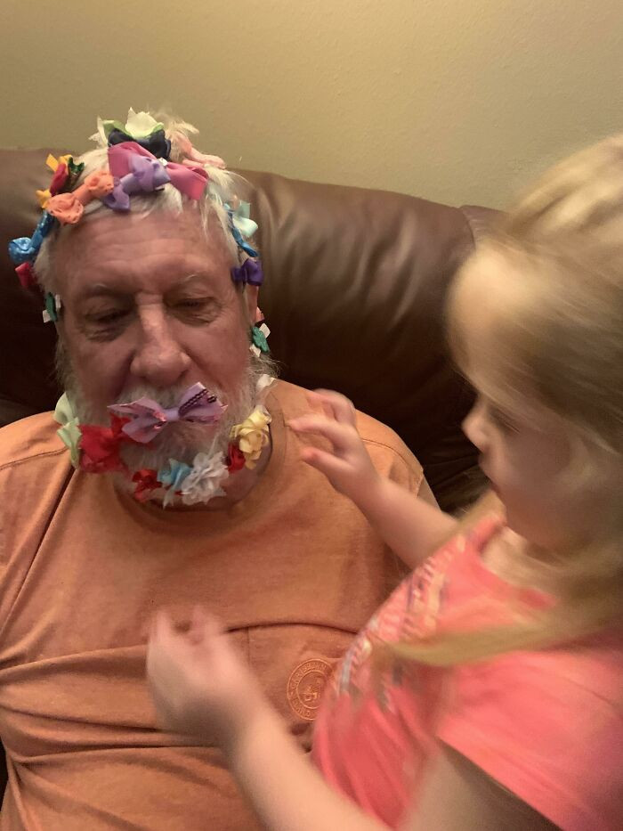 1. A 76-year-old retired Air Force Colonel and his 4-year old granddaughter