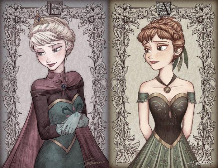 17. Elsa and Anna