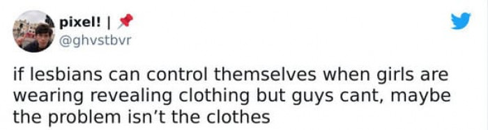 3. The problem is definitely not the clothes