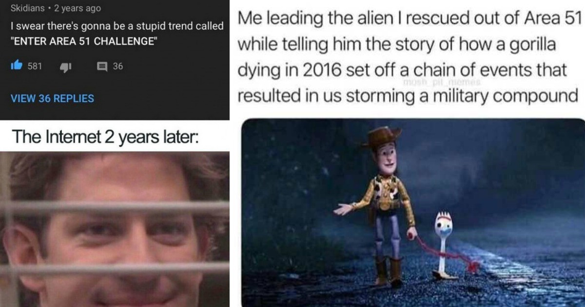 These Are THE Funniest Memes To Come From The Plot To Storm Area 51