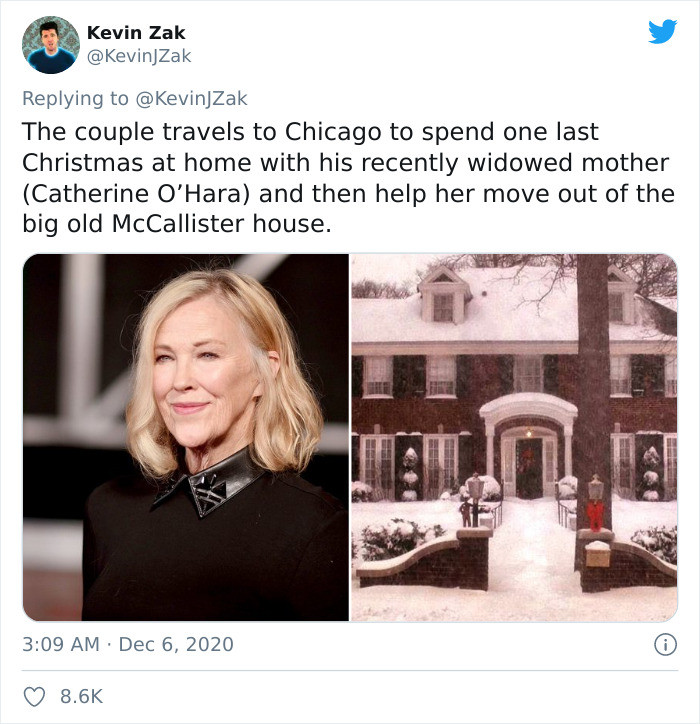 Kevin's mother is now a widow, so Kevin and his husband travel back to Chicago to help her pack up the family home and spend one last Christmas there.