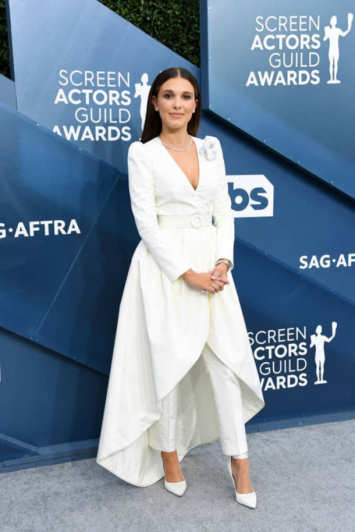 9. 15-year-old Millie Bobby Brown was slated for her SAG Awards look. It was deemed as